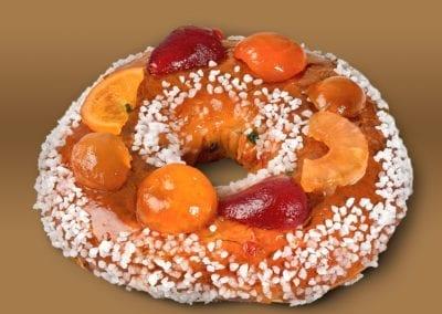 Gâteau des rois (Brioche fruits confits)