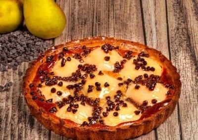 Tarte aux poires chocolat crème d'amande