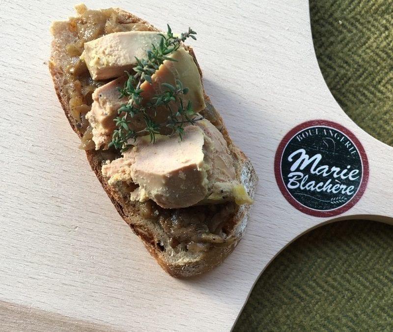 Toast au foie gras