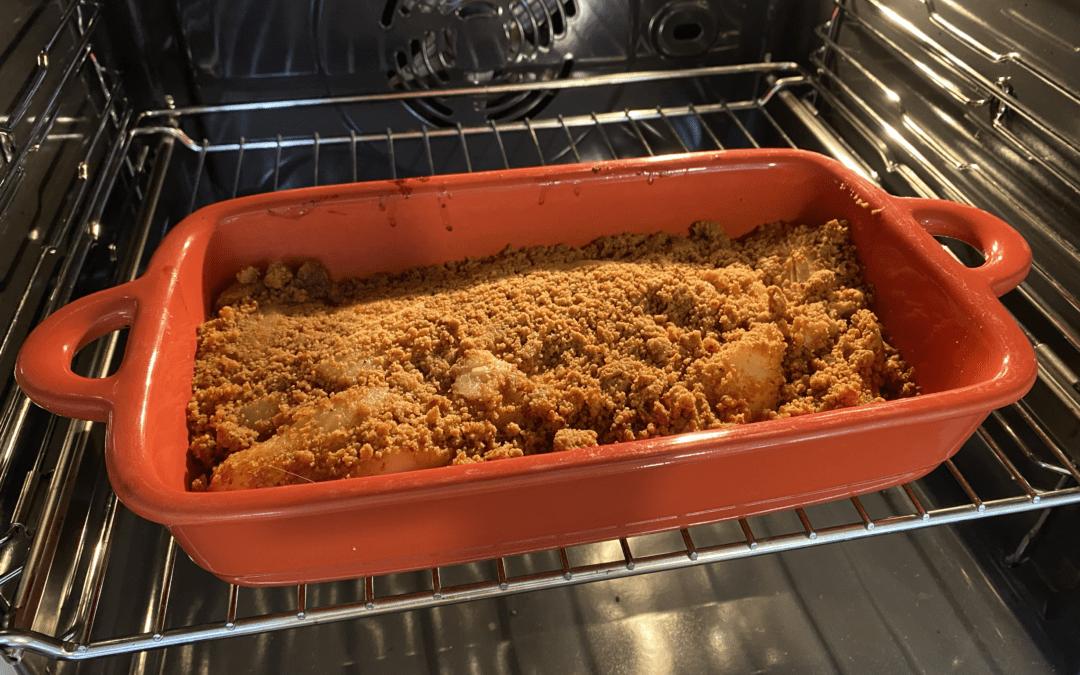 Crumble pain d'épices & poires