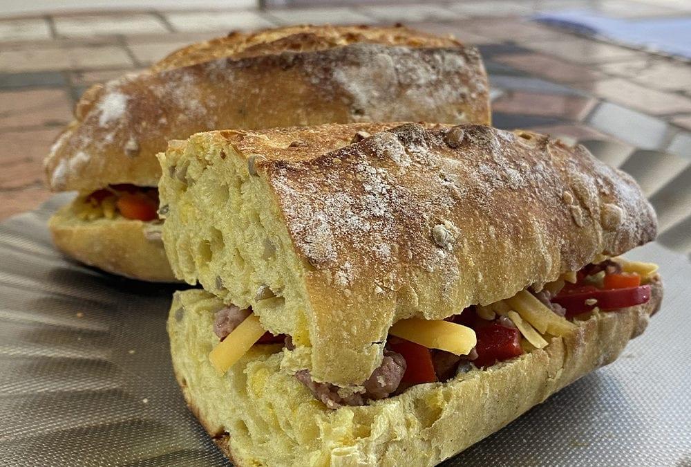 Sandwich pain au maïs !